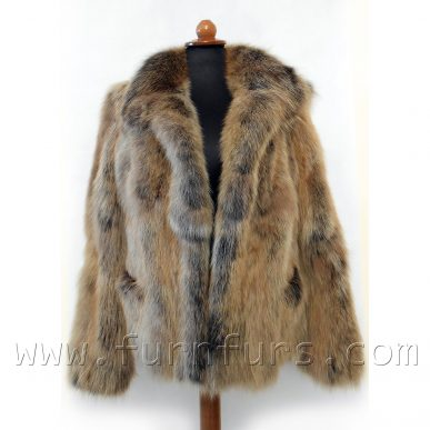 Hooded Fox Fur Jacket
