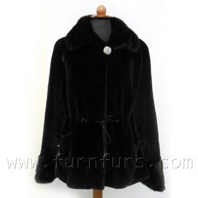 BLACKGLAMA Mink Fur Jacket