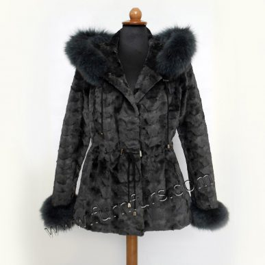 Mink & Fox Sculptured Fur Jacket