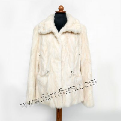Light Color Mink fur Jacket - Furs Eshop