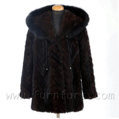 Hooded Mink Fur Jacket