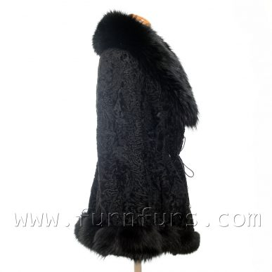 Black Astrakhan Fur Jacket