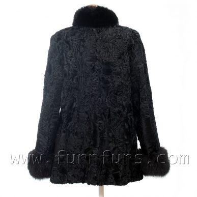 Astrakhan Fur and Fox Fur Jacket