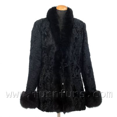 Astrakhan and Fox Fur Jacket