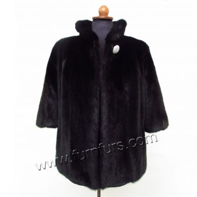 Black Mink Jacket 3/4 Sleeves