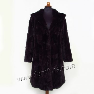 Dark Mink Slightly Waisted Coat