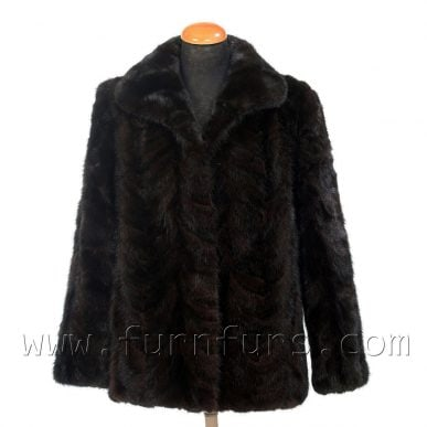 Black Short Mink Fur Jacket