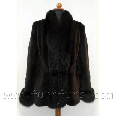 Weasel Fur Jacket With Fox