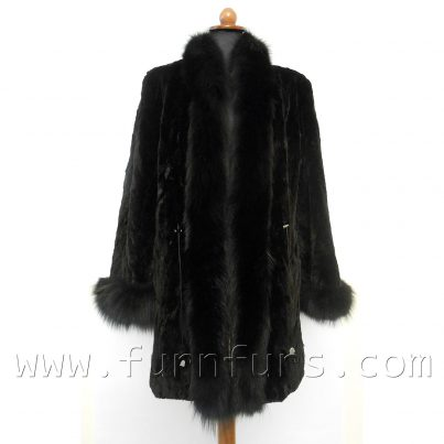 Sheared Mink Jacket With Fox