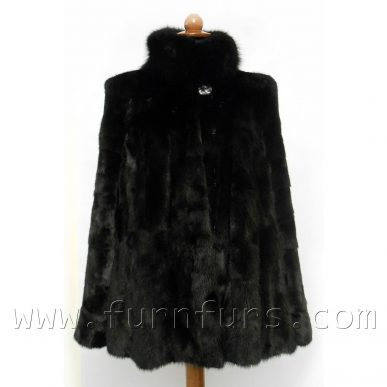 Mink Fur Jacket With Fox