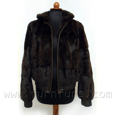 Petit Gris Fur & Lamb Leather Jacket
