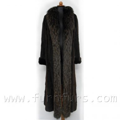 Weasel Fur Coat With Fox