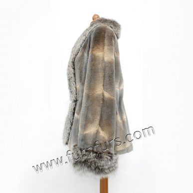 Musquash Fur Jacket with Fox