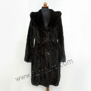 Sculptured Hooded Mink Coat