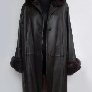 Lamb Leather Coat