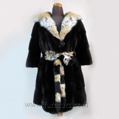 BLACKGLAMA Mink Coat & Cat Lynx Fur