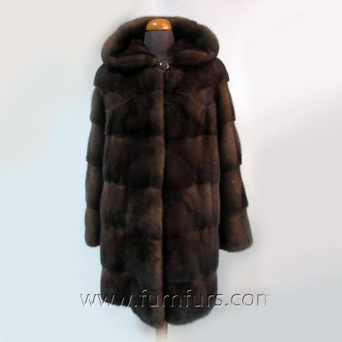 NAFA Brown Mink Fur Coat