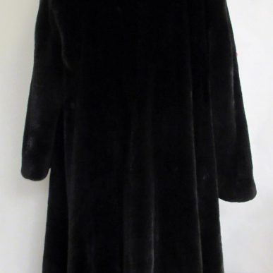 BLACKGLAMA Black Mink Fur with Hood