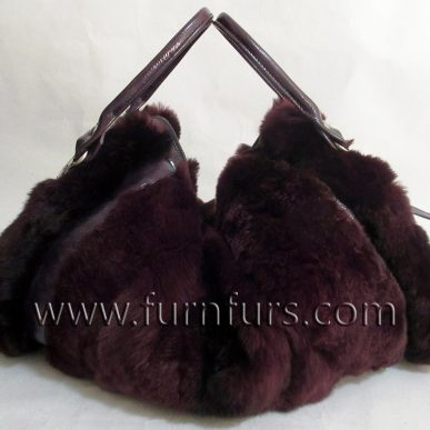 LORENA – Rex Rabbit Fur & Leather Bag