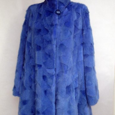 Blue Mink Fur Coat