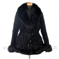 Black Astrakhan Fur Jacket