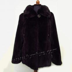 Dark Mink Fur SAGA Jacket