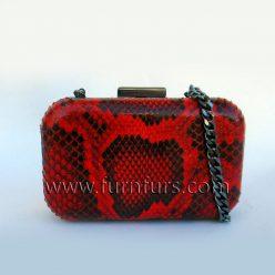 LISA - Leather Python Purse