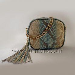 LUISA - Leather Python bag