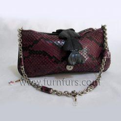 ELDA - Python with Crocodile Leather Bag