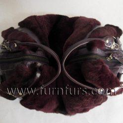 LORENA - Rex Rabbit Fur & Leather Bag